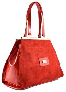 kabelka-červená